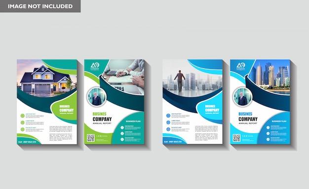 Nowoczesny Korporacyjny Szablon Ulotki Informacyjne Premium Wektorów