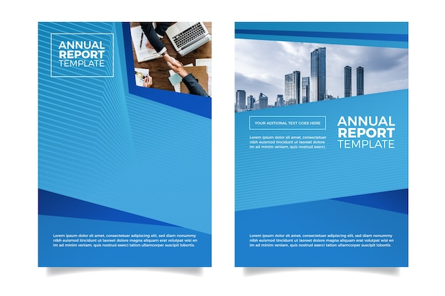 Nowoczesny Minimalistyczny Projekt Raportu Rocznego Darmowych Wektorów