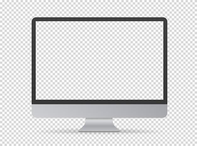 Nowoczesny monitor komputerowy Premium Wektorów