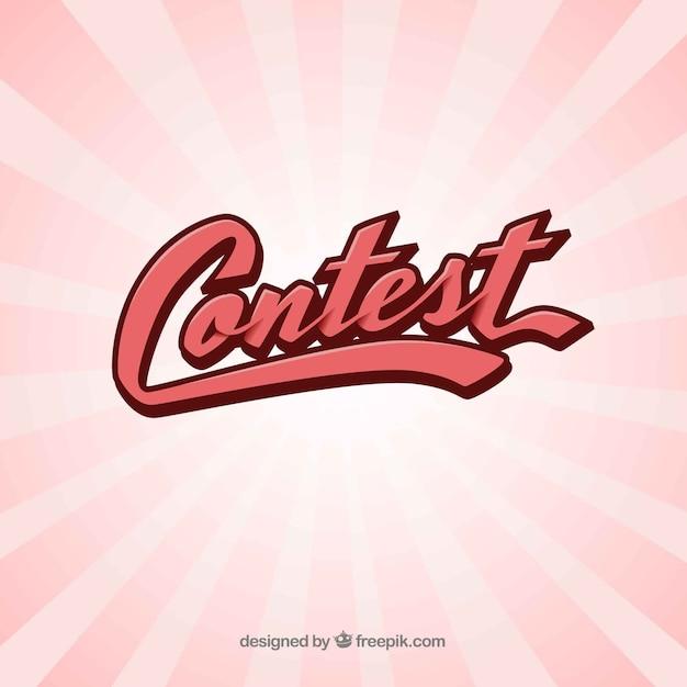 Nowoczesny Napis Konkursowy O Płaskiej Konstrukcji Darmowych Wektorów