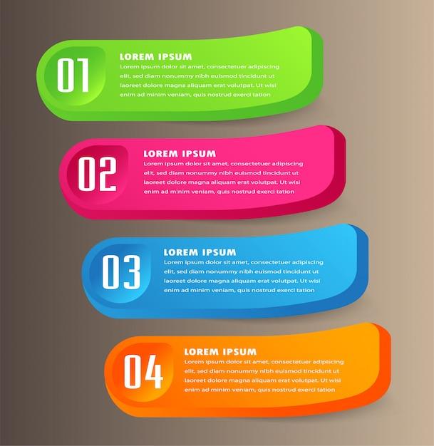 Nowoczesny Papierowy Szablon Pola Tekstowego, Transparent Mowy Bąbelek 3d Infographic Premium Wektorów