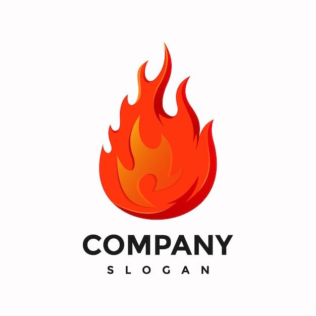 Nowoczesny Projekt Logo Płomienia Premium Wektorów