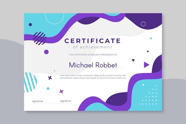 Nowoczesny Projekt Szablonu Certyfikatu Darmowych Wektorów