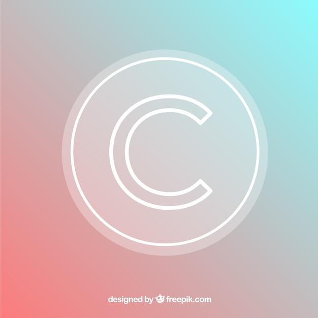 Nowoczesny symbol praw autorskich Darmowych Wektorów