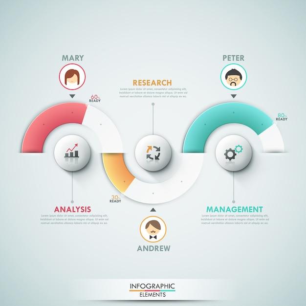 Nowoczesny szablon opcji infografiki Premium Wektorów