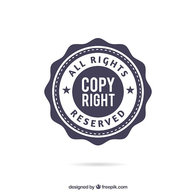 Nowoczesny szablon symbol praw autorskich Darmowych Wektorów