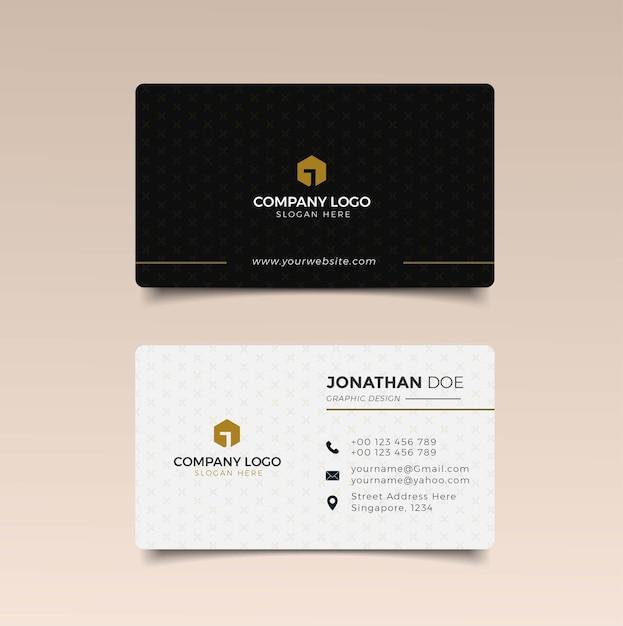 Nowoczesny Szablon Wizytówki Z Abstrakcyjnymi Kształtami Premium Wektorów