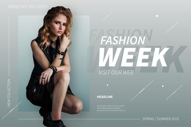 Nowoczesny sztandar tygodnia mody Darmowych Wektorów