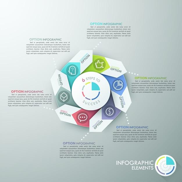 Nowoczesny transparent opcje infografiki Premium Wektorów