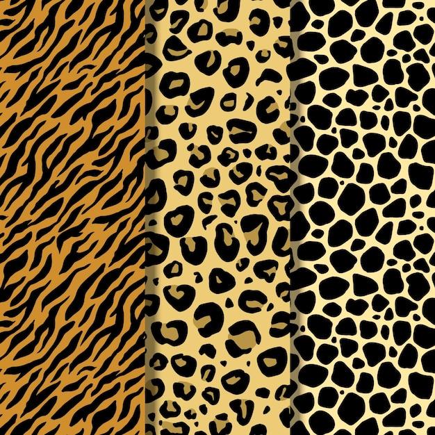 Nowoczesny Wzór Futra Dzikiej Przyrody Darmowych Wektorów