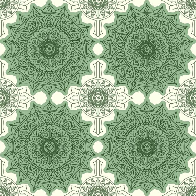Nowoczesny Wzór Geometryczny. Ozdoba Kwiatowa, Ozdoba Okrągła Darmowych Wektorów