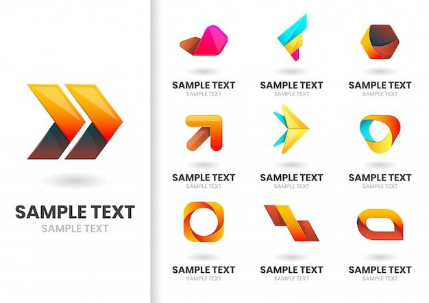 Nowoczesny zestaw logo Premium Wektorów