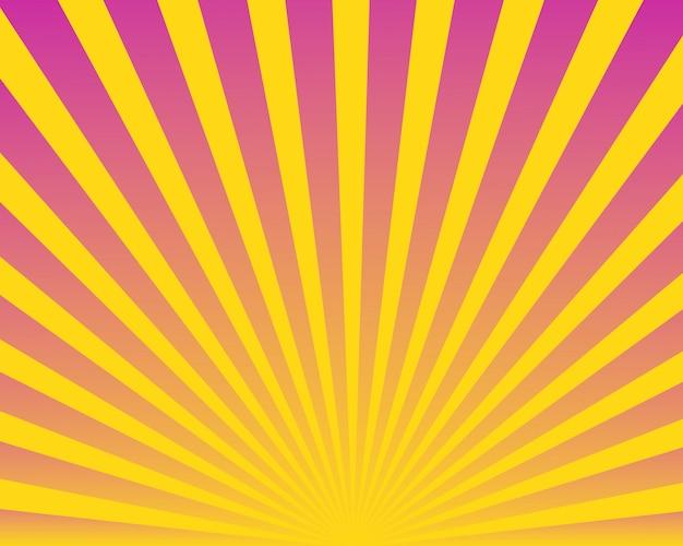 Nowożytny Abstrakcjonistyczny Kolorowy Sunburst Tło Premium Wektorów