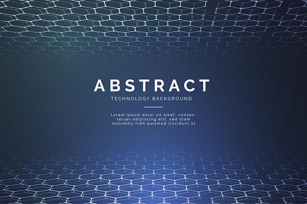 Nowożytny abstrakcjonistyczny technologii tło z 3d sześciokątami Darmowych Wektorów