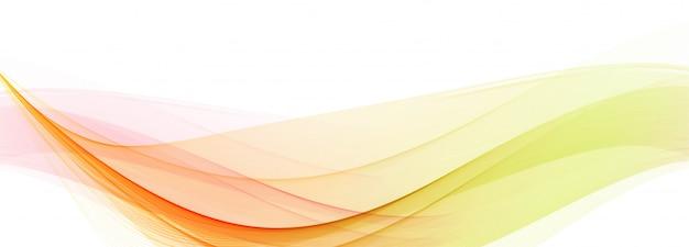 Nowożytny Bieżący Kolorowy Falowy Sztandar Na Białym Tle Darmowych Wektorów