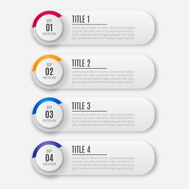 Nowożytny kolorowy biznesowy infographic Darmowych Wektorów