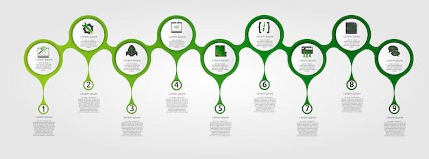 Nowożytny Szablon Dla Infographic Okregów Premium Wektorów