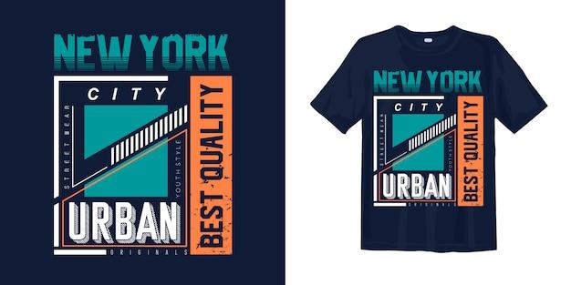 Nowy Miejski Styl Miejski Do Nadruku Na Koszulce Premium Wektorów