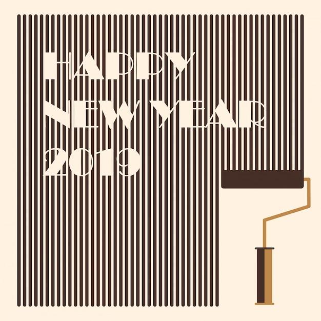 Nowy rok 2019 powitanie tagu i etykiety Premium Wektorów