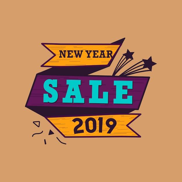 Nowy rok 2019 sprzedaż wektor godło Darmowych Wektorów