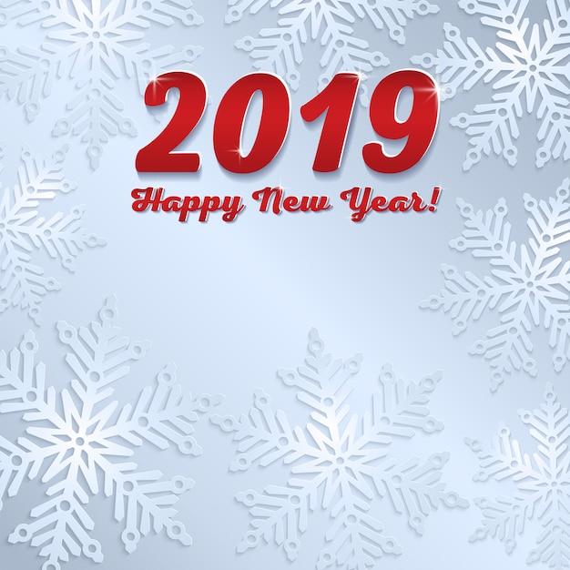 Nowy rok 2019 szary tło Premium Wektorów