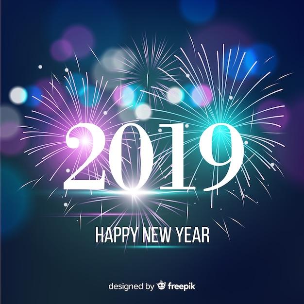 Nowy rok 2019 tło Darmowych Wektorów