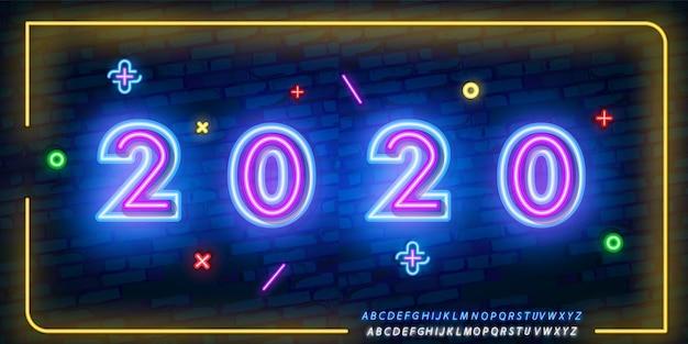 Nowy Rok 2020 Premium Wektorów