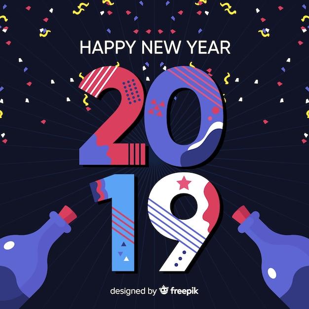 Nowy Rok Konfetti Tła Darmowych Wektorów