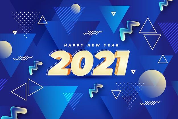 Nowy Rok Tło Z Abstrakcyjnymi Niebieskimi Kształtami Darmowych Wektorów