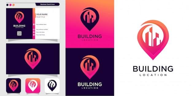 Nowy Styl Logo Nowoczesnego Budynku I Projekt Wizytówki Premium Wektorów