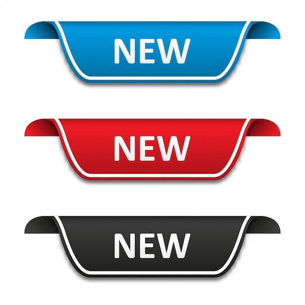 Nowy zestaw etykiet znaczników Premium Wektorów