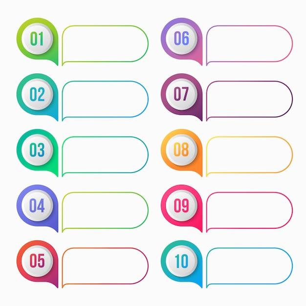 Numeryczny Punktor Kolorowy Gradient Z Pola Tekstowego Premium Wektorów