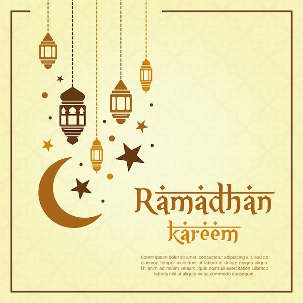? ó? te ramadan tle Darmowych Wektorów