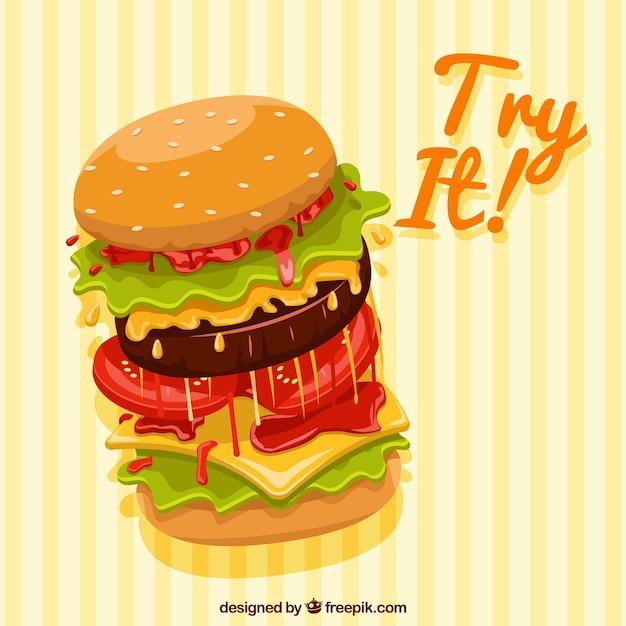 ? ó? ty paski tle du? y hamburger Darmowych Wektorów