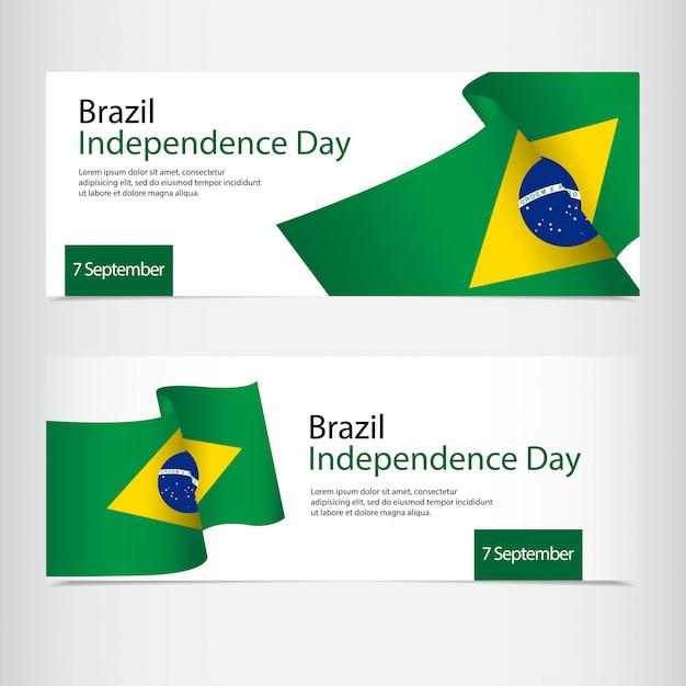 Obchody dnia niepodległości brazylii Premium Wektorów