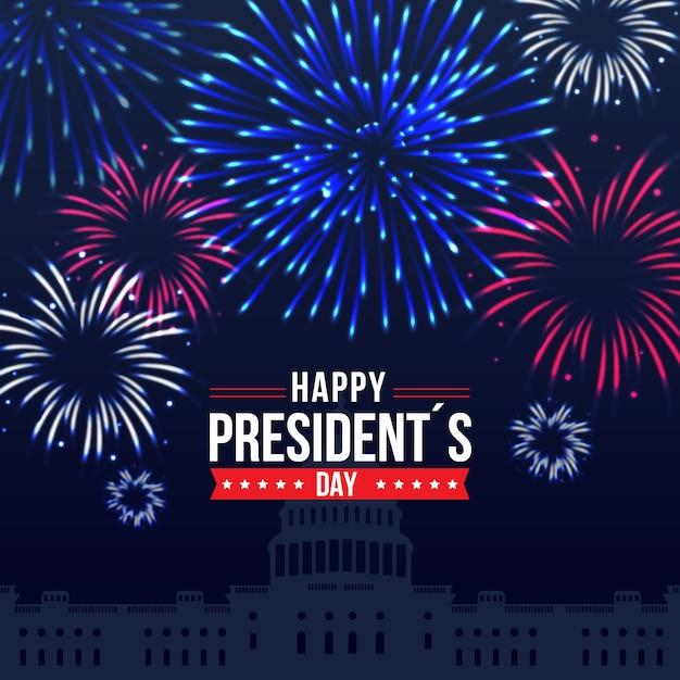 Obchody Dnia Prezydentów Z Fajerwerkami Darmowych Wektorów