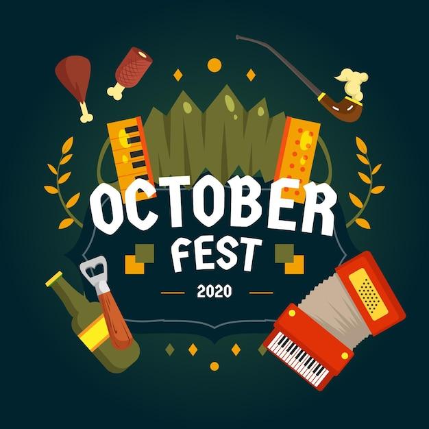 Obchody Imprezy Oktoberfest Darmowych Wektorów