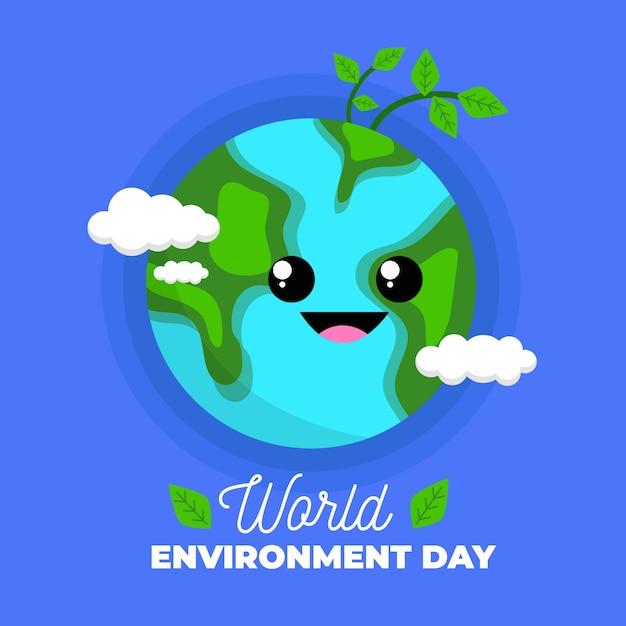 Obchody Międzynarodowego światowego Dnia środowiska Darmowych Wektorów