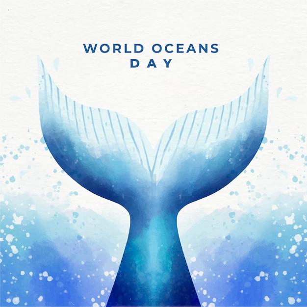Obchody światowego Dnia Oceanów Darmowych Wektorów