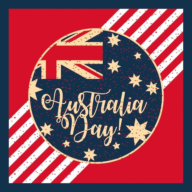 Obchody Szczęśliwego Dnia Australii Darmowych Wektorów