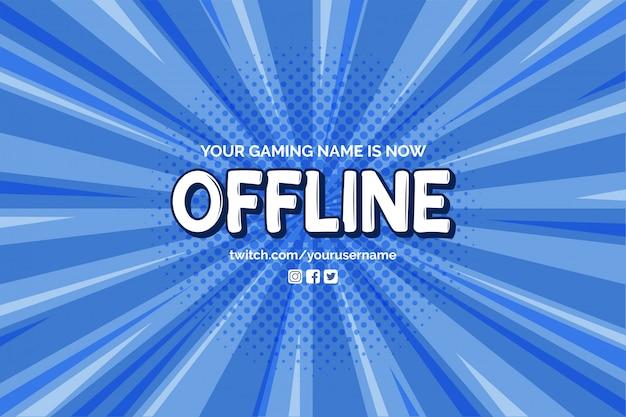 Obecnie Offline Baner Z Szablonem Komiksu Zoom Tło Wektor Darmowych Wektorów