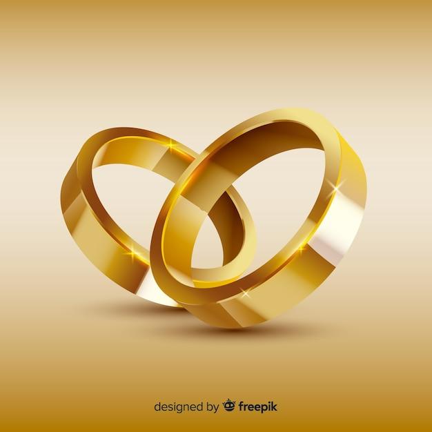 Obrączki ślubne Darmowych Wektorów