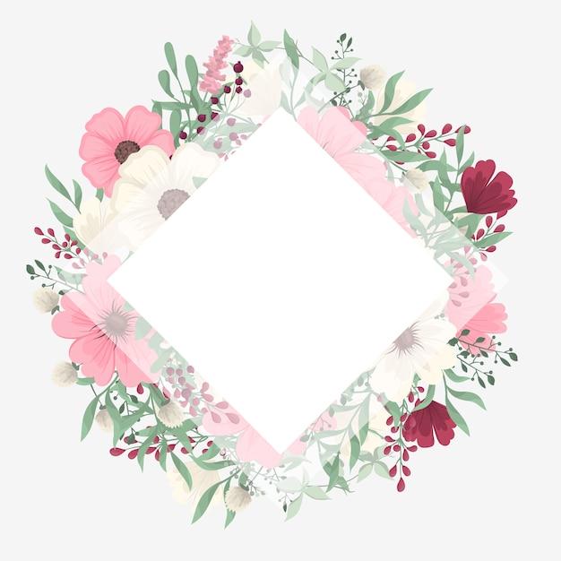 Obramowanie Wzorów Kwiatowych - Różowe Kwiaty Darmowych Wektorów