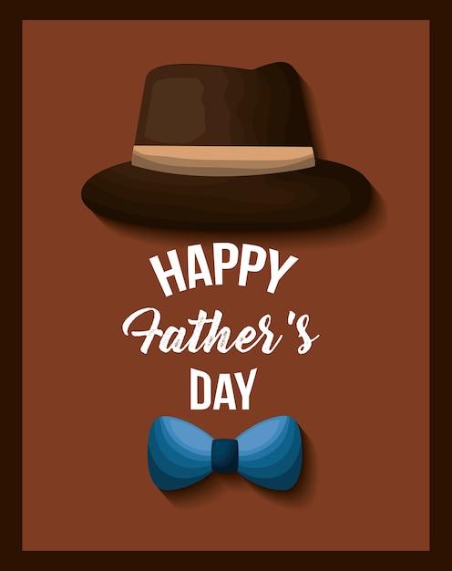 Obraz Karty Dzień Ojca Premium Wektorów