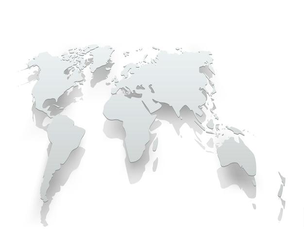 Obraz Papieru Mapy świata Premium Wektorów