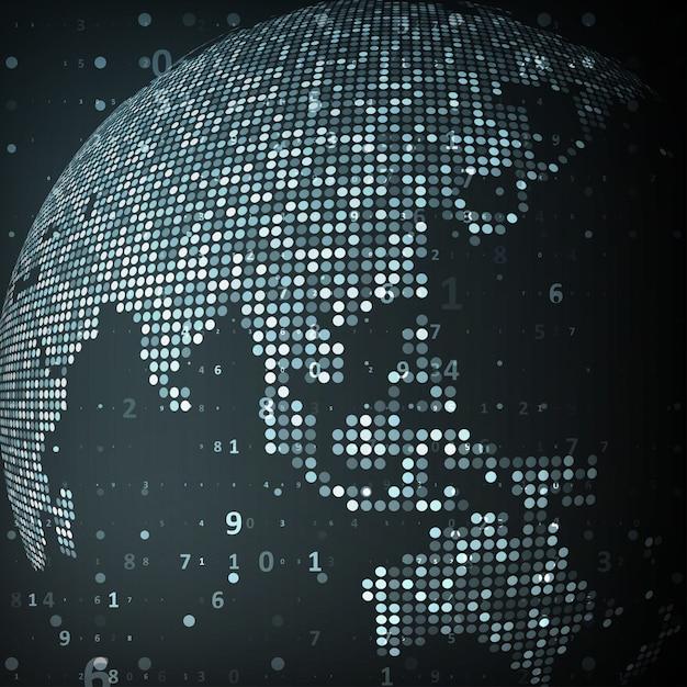 Obraz technologii globu Premium Wektorów