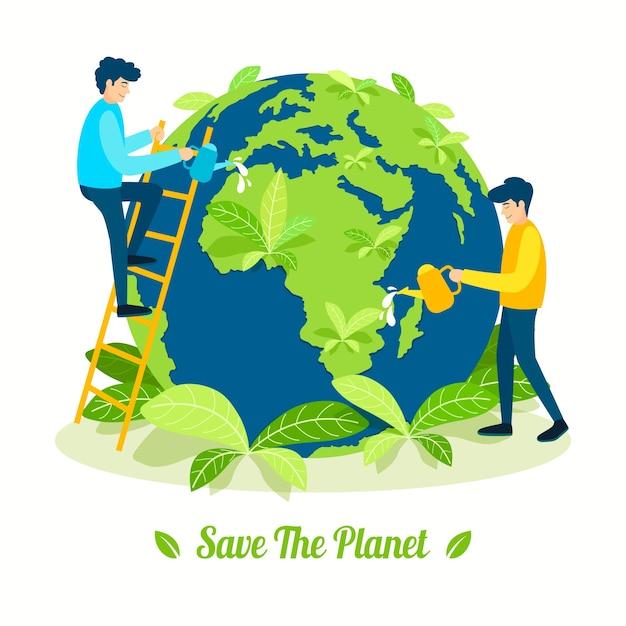Ocal Planetę Darmowych Wektorów
