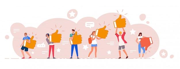 Ocena I Zestaw Opinii Klientów Online Premium Wektorów