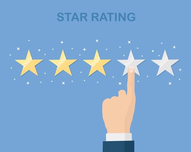 Ocena W Skali Gwiazdkowej. Opinie Klientów, Recenzje Klientów. Ankieta Dotycząca Usług Marketingowych Premium Wektorów
