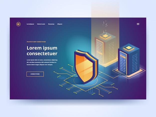 Ochrona bezpieczeństwa sieci i bezpieczeństwo danych Premium Wektorów